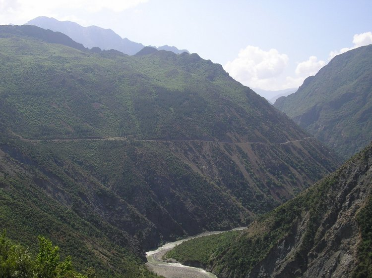 The gorges between Gramsh and Korçë