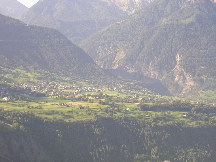 View across the Rhône Valley on the way to Riederalp
