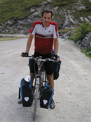 Me on the Colle delle Finestre, Piemonte, Italy