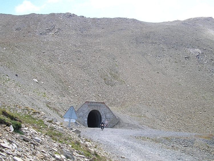 The tunnel on the Col du Parpaillon, France