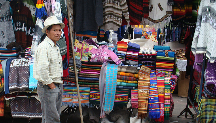 The market of Otavalo