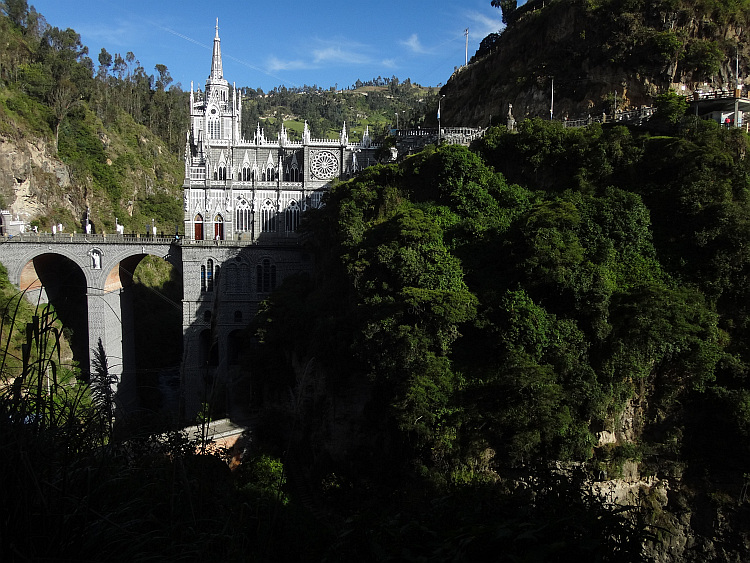 The neogothic church of Las Lajas