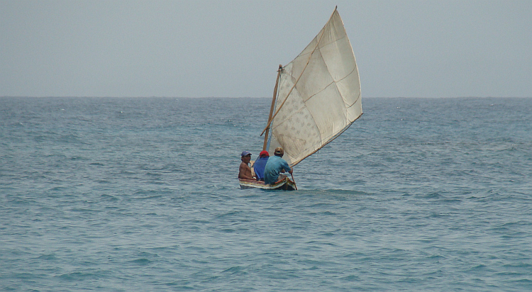 Fishing boat in the Caribbean Sea