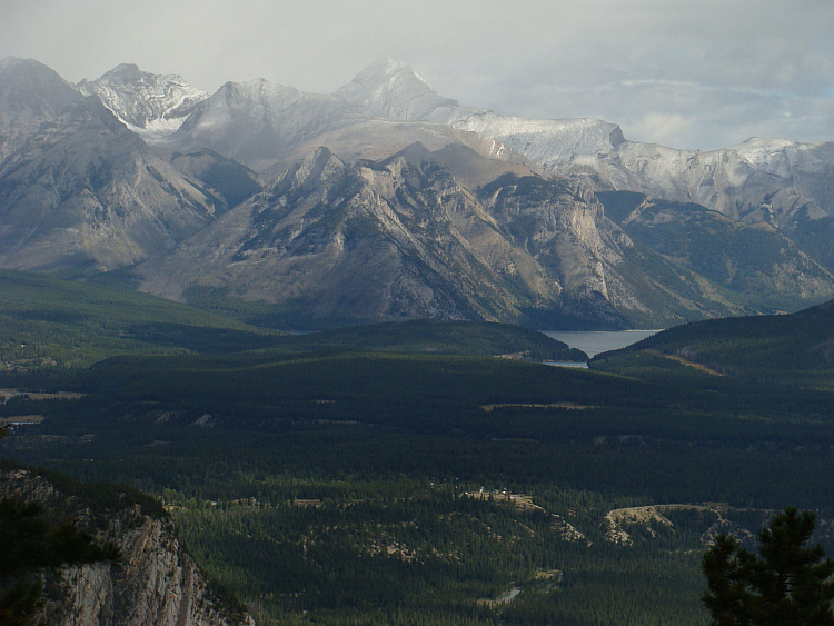 View from a mountain near Banff