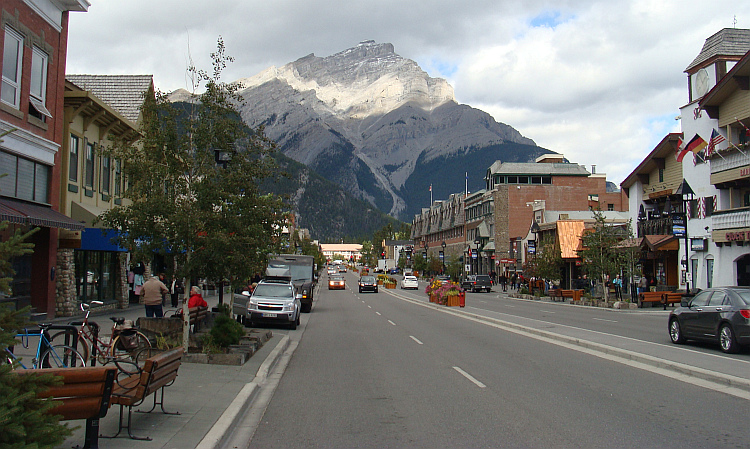 The center of Banff