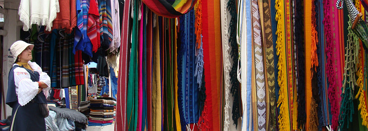On the market of Otavalo