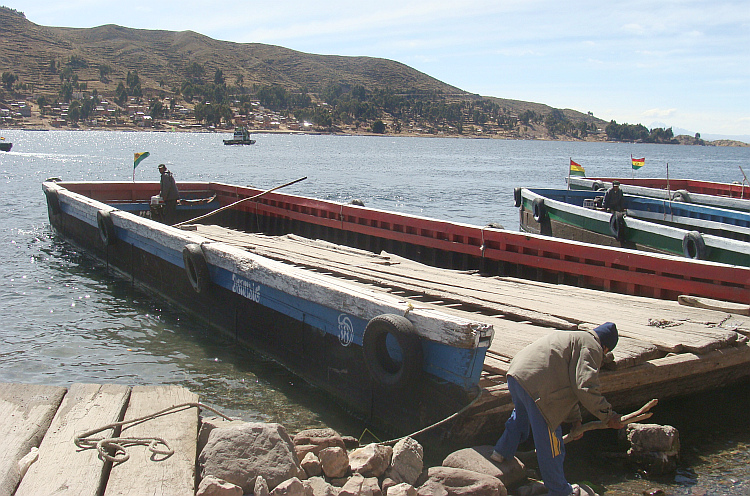 Ferries across Lake Titicaca