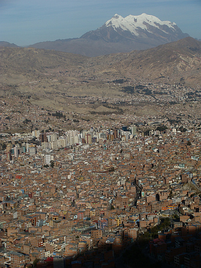 The valley of La Paz as viewed from the 'highway'