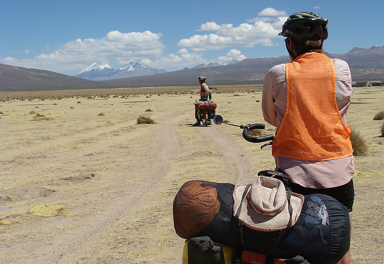 Marten and Karin on the route to Sajama