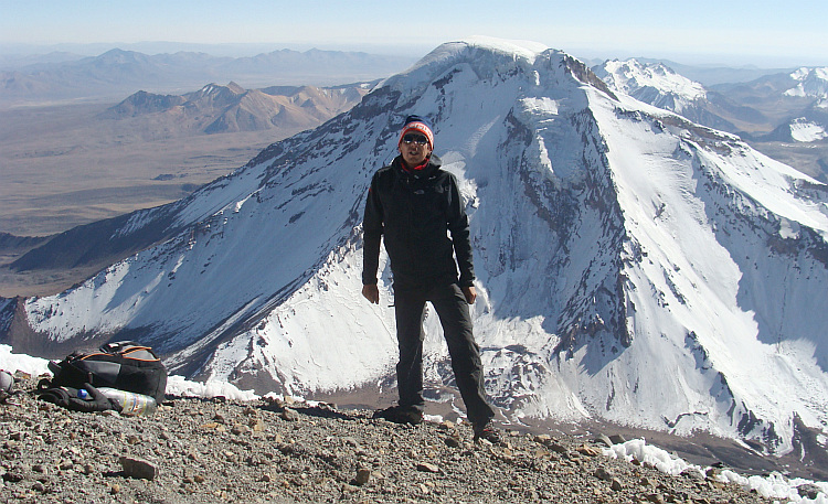On the flanks of the Parinacota volcano