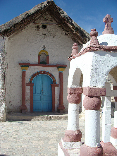 The church of Parinacota on the Chilean Altiplano