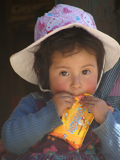 Girl on the route from Oruro to Sucre