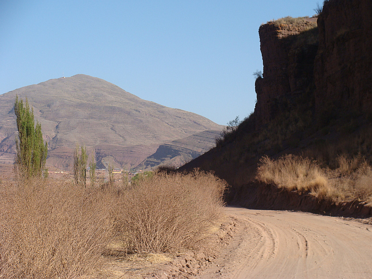 Landscape on the route from Oruro to Sucre
