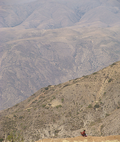 Landscape between Sucre and Potosí