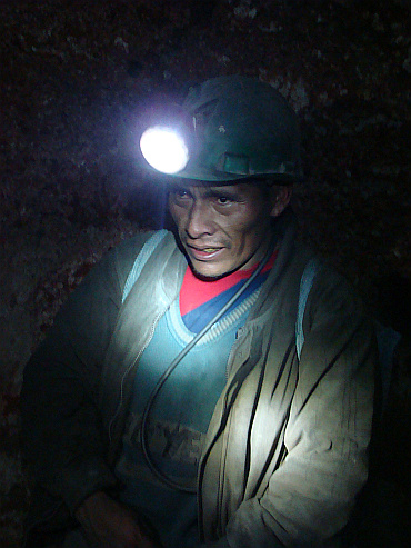 In the mines of Potosí