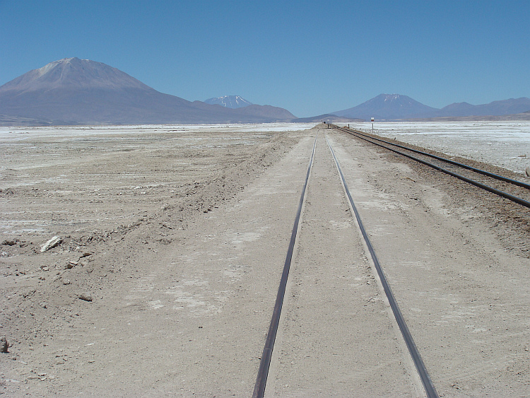 One of the many quiet days on the Bolivian railways