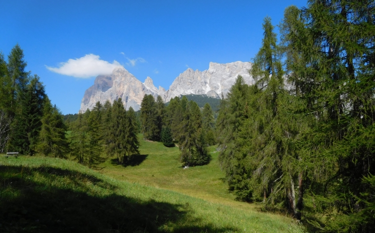 Landscape on the way to the Passo di Falzarego