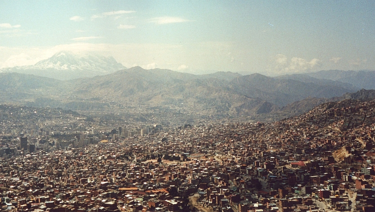 The most beautiful city in the world from the camera from above: La Paz