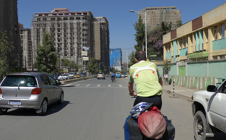 On the way in Addis Abbeba