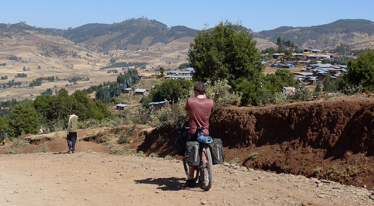Marco in the hills north of Addis Abbeba