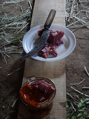 Fresh ox beef to celebrate the Ethiopian New Year