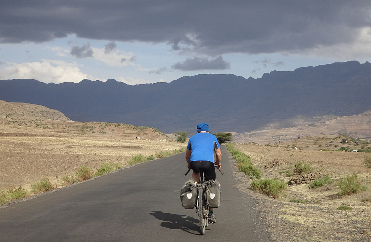 Marc on the road to Lalibela