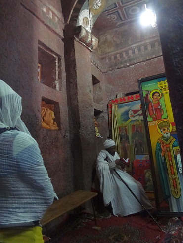 Priest church in Lalibela