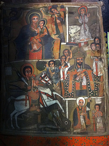 Fresco in Lalibela