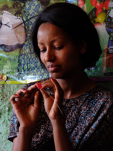 Coffee ceremony in Lalibela