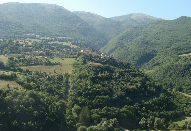 The beautiful valley of Valnerina, Umbria