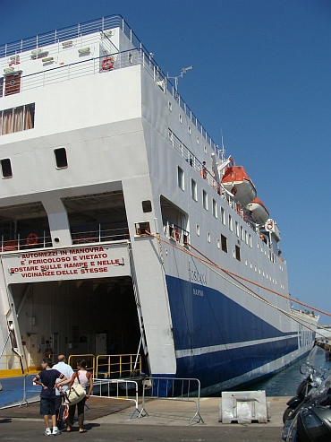 The ferry from Sicily to Sardegna