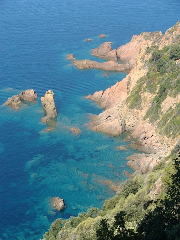 The red rocks of Scandola