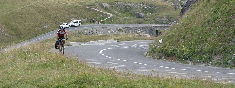 Me, on the climb to the Galibier