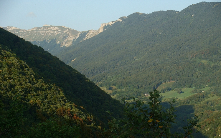 Late evening sun on the mountains of Chézery Forens, Haut Jura