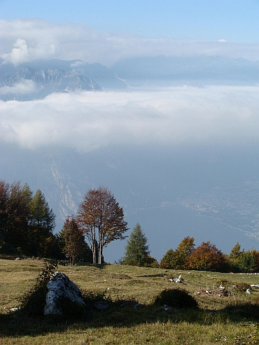 View on the way to the Monte Baldo