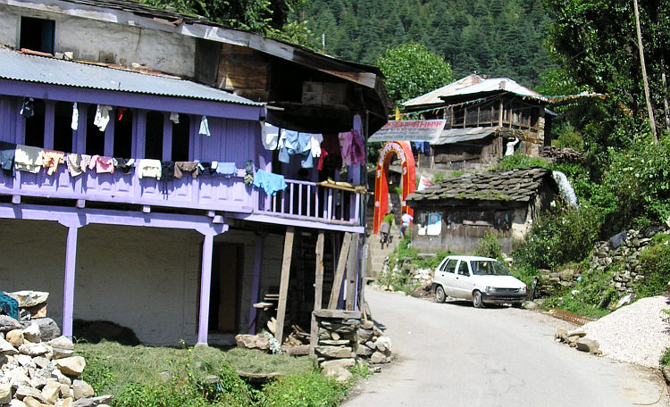 Village scene in the Kullu Valley