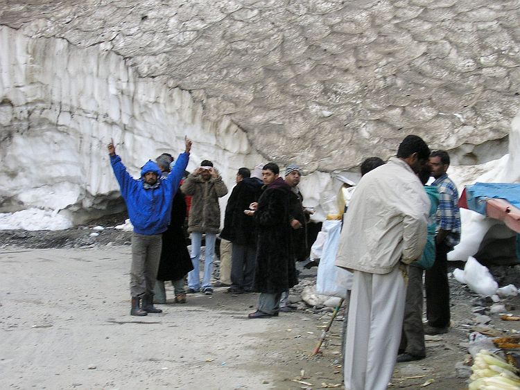 Snow Point attracts hundreds of Indian visitors per day who have never seen snow in their lives