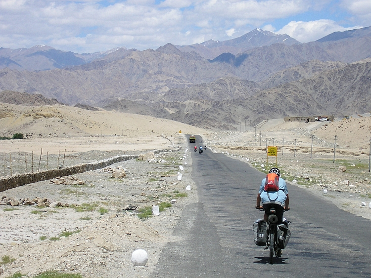 The desertlike landscape of Ladakh