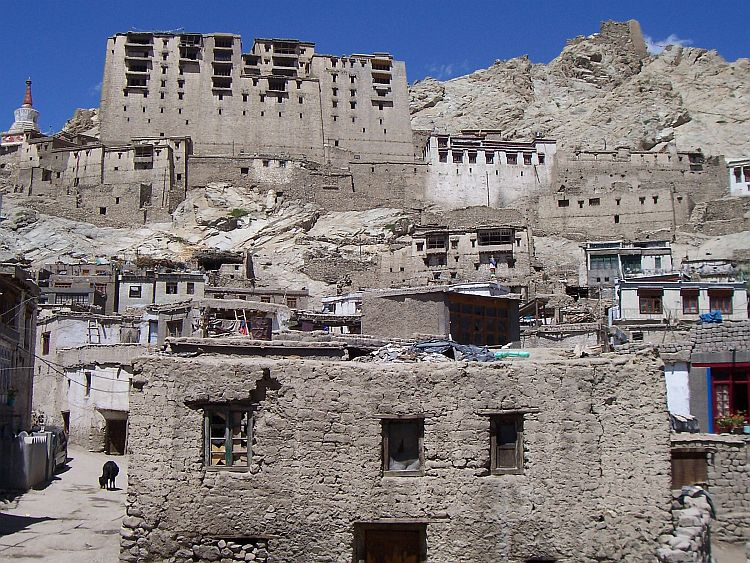 Leh with the old royal palace