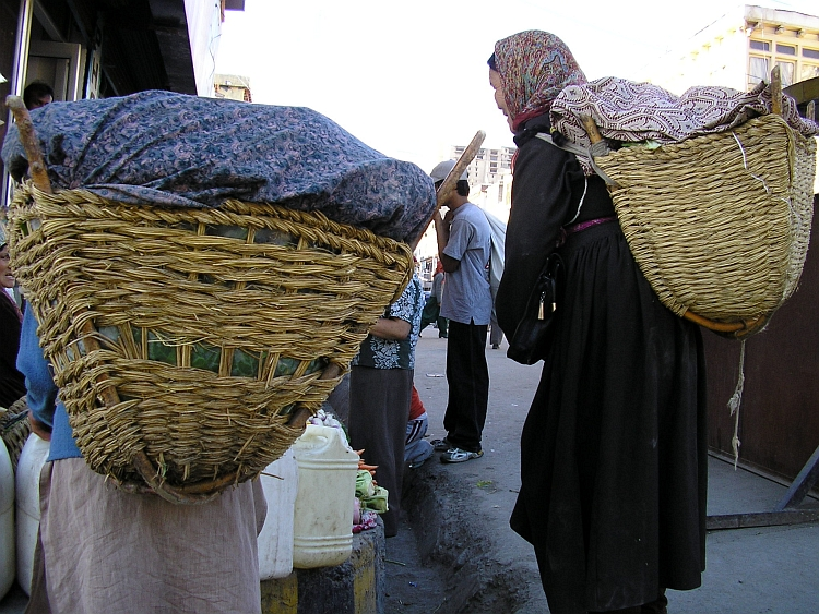 Women with basket, Leh