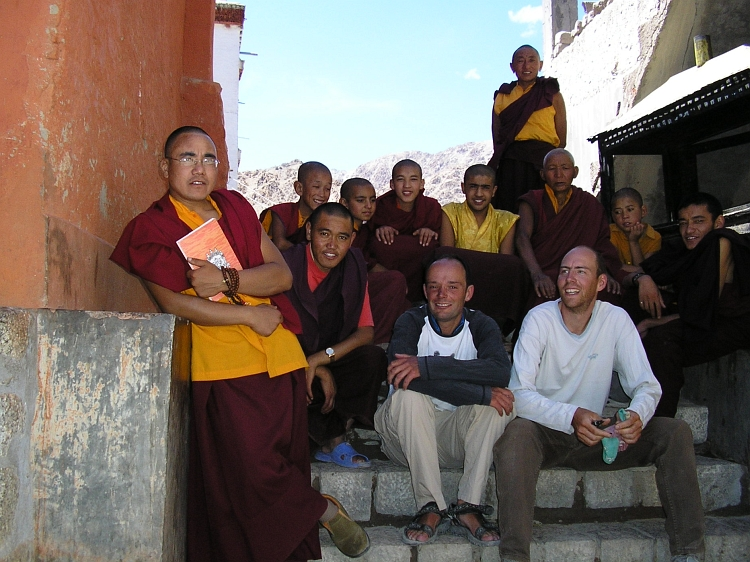Monks at Phiyang Monastery