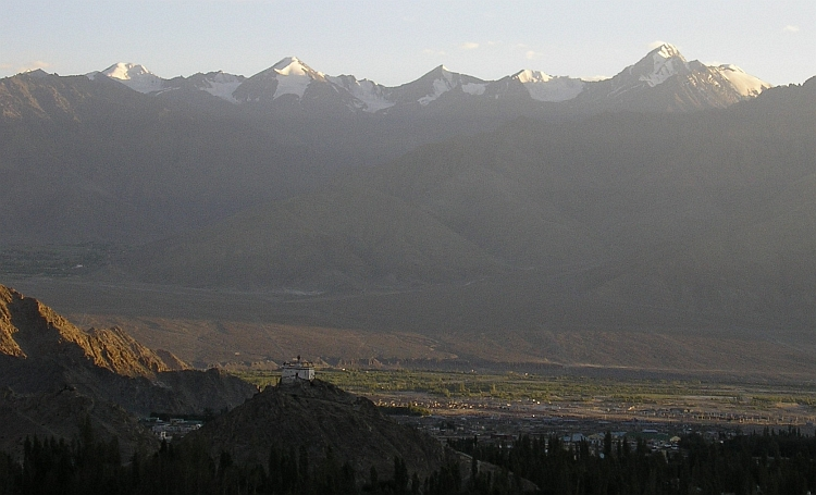 View over the Indus Valley and the Stok Range