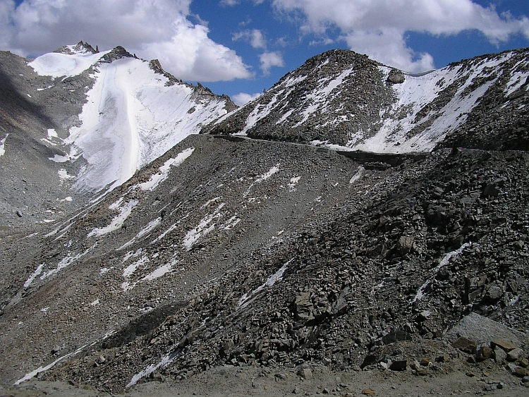 Looking back to the Khardung La