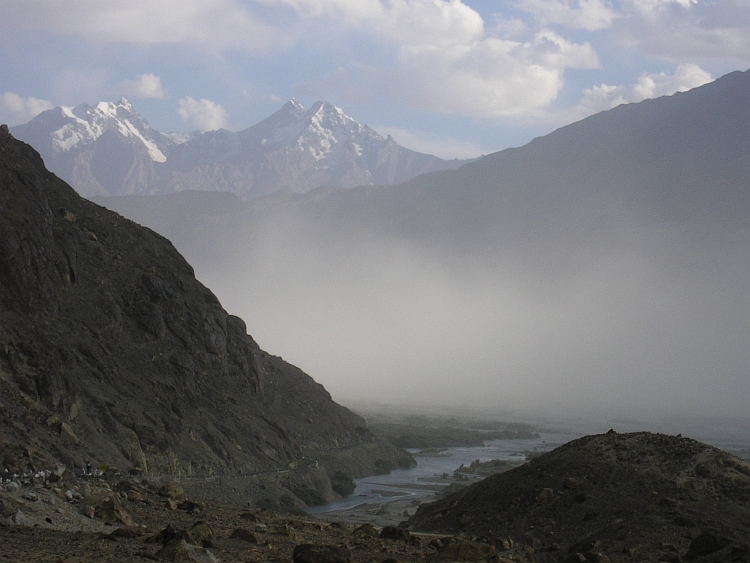 Sandstorm in the Nubra Valley