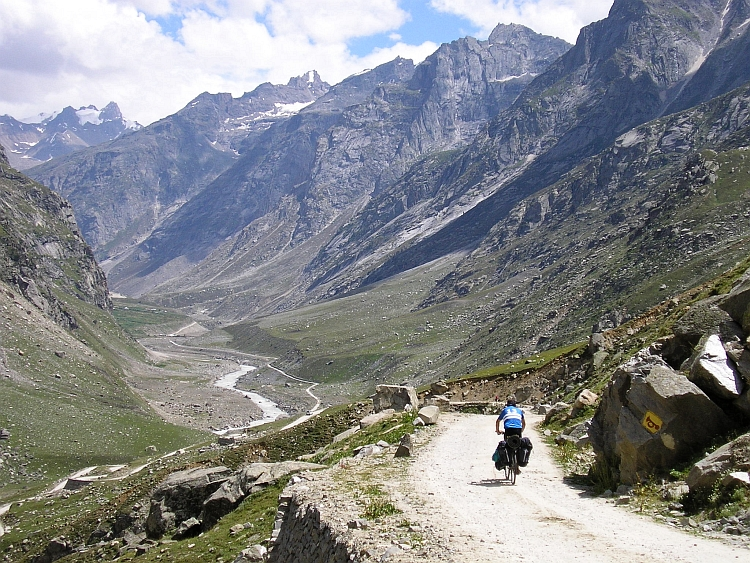 The rough Pir Panjal mountains and the Lahaul Valley
