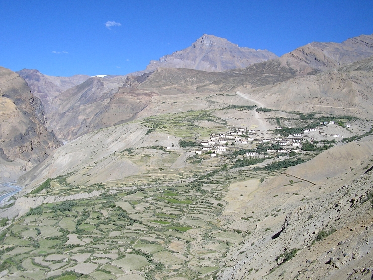 The village of Lalung, Spiti