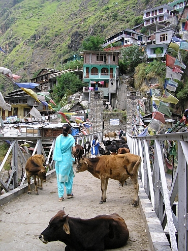 Bridge over the Parvati, Manikaran