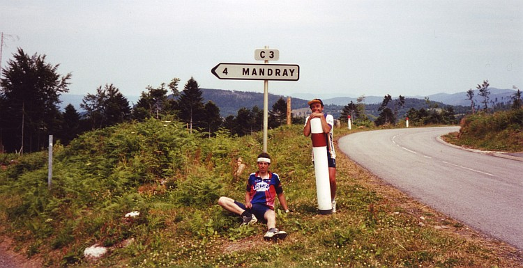Willem and I on the Col du Mandray, Vosges