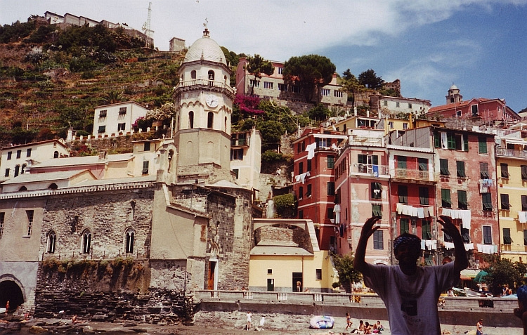 Willem is acting very strange in Vernazza, Cinque Terre