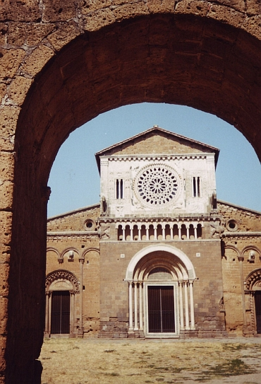 The spiritual grandeur of the roman San Pietro church of Tuscania, Lazio
